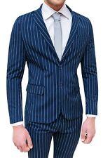 Abito completo uomo Sartoriale blu a righe smoking vestito elegante cerimonia