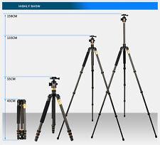 Trépied Pro en Carbone Q999+ Rotule, transformable en monopod pour Canon Nikon