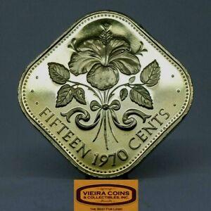 1970 Bahamas Proof 15 Cents  - #C21566NQ