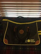 UNISEX VGUC LA VIDA ES CHULA DESIGUAL BAG DSGL Black Yellow Shoulder/Hand Bag