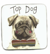 Top Dog Corked Backed Coaster, Alex Clark, Dogs, Pets, Tea, Coffee, Gifts C106