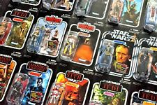 STAR WARS HASBRO THE VINTAGE COLLECTION & THE RETRO COLLECTION FIGURES ALL MOMC