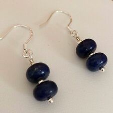 Handmade 925 sterling silver lapis lazuli gemstone earrings