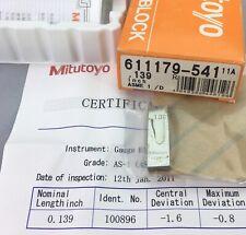 Mitutoyo 611179 Rectangular Gage Block 0139 Asme 1 Withcertificatemachinist