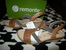 Brand New Womens Brown Remonte Sandals, Size 10  42