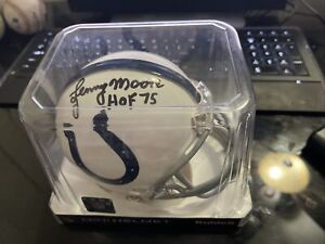 Lenny Moore Autographed Mini Helmet