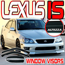 00-05 IS300 Side Window Rain Deflectors Sun Visors Vent Shade with ALTEZZA Logo