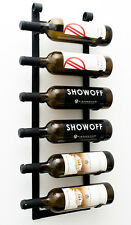 Six Bottle VintageView® Le Rustique Metal Wall Mounting Wine Rack. Black Finish