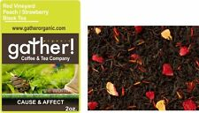 Peach & Strawberry Black Tea -Loose Leaf Flavored Black Tea-Red Vineyard 2oz