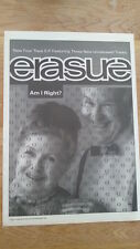 ERASURE 'Am I Right' 1991 UK Poster size Press ADVERT 16x12 inches