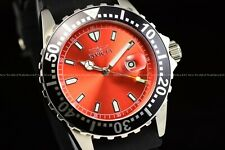 Invicta 44mm Pro Diver Imperial Red Dial Black Bezel polyurethane strap Watch