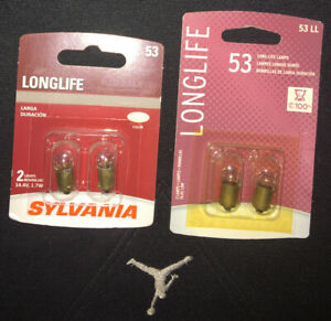Sylvania Long Life - 2 Pack - 53LL Light Bulb Glove Box Instrument Panel Ash lj