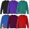 Fruit Of The Loom CHILDREN'S RAGLAN SWEATSHIRT PLAIN SWEAT BOYS GIRLS ALL SIZES