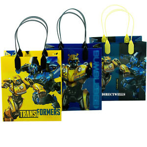 Transformers Authentic Licensed Reusable Small Party Favor Goodie 12 Bags 6""