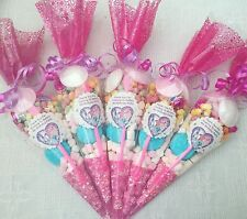 25 X My Little Pony Pre Filled Party Cones Personalised+Free Sweety Bag