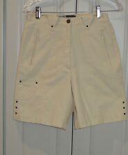 JAMIE SADOCK WOMEN'S GOLF Shorts Long Creme  ZIP Pocket ELASTIC SIDE Size 6