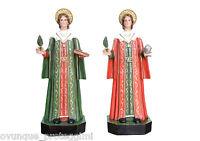 Saint Cosmas and Damian fibra de vidrio statue cm. 80 con vidrio ojos