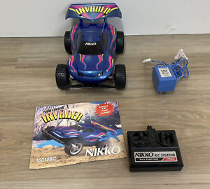 Nikko Invader 27 MHz Remote Control Toy RC Car Race Rare 80s VTG Toy