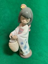 Oriental Girl with Lantern lladro Figurine #6231