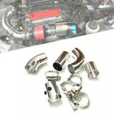 """3""""76MM Car Silve Cold Air Intake Tube Injection Pipe Aluminum Filter Bracket Kit"""