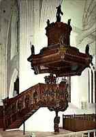 Kirchen & Religion Motiv-AK Ludgeri Kirche in NORDEN mit Kanzlei von R. Garrelts