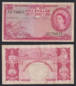 British Caribbean Territories 1 Dollar 1957 BB / VF A-07