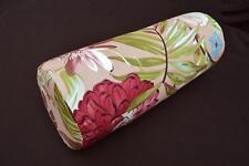 LF807g  Gray Purple Pink white Cotton Canvas Neck Yoga Bolster Case Pillow Cover