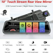 "HD Touch Screen 10"" Car DVR Dash Cam Front&Rear Video Recorder Camera G-sensor"
