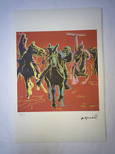 Andy Warhol Lithographie 57 x 38 Arches France Timbre Sec Galerie Art A123