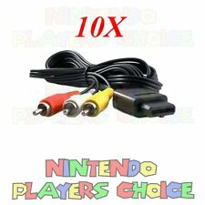WHOLESALE LOT 10X  NEW AV Audio Video Cables N64 Gamecube Super Nintendo SNES