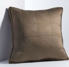 """Simply Vera Wang Euro Pillow Sham Size: 24 x 24"""" New Ship Free Brown Quilted"""