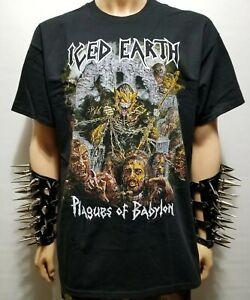 ICED EARTH PLAGUES OS BABYLON   Band T -Shirt