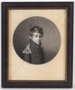 "Sophie Clemence Delacazette (1774-1854) ""French Naval Cadet"", Superior Portrait"