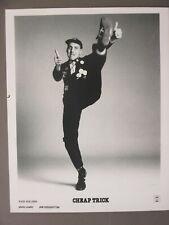 Cheap Trick promo photo 8X10 b/w Rick Nielson Kicking !