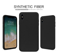 NILLKIN Slim Synthetic Carbon Fiber Case Cover For Apple iPhone XR XS Max 8 Plus