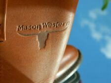 1990's Mason Western Work Boots Made in Usa Size 9 B Vibram Soles