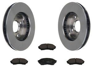 MAZDA 323 C V 1.5 SET 2 Bremsscheiben 4 Beläge vorne für die Vorderachse