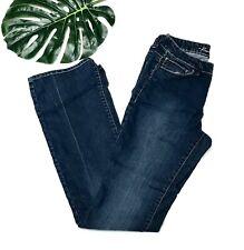 Kenneth Cole Women's Boot Cut Dark Wash Denim Jeans Button Fly Size 28