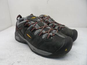 KEEN Men's Low-Cut Detroit XT ST WP Hiking Work Shoes Grey/Red Size 9EE