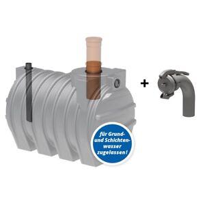 Sammelgrube 3000 L, Komplettset, Abwasser-, Fäkalientank mit DIBt - neu