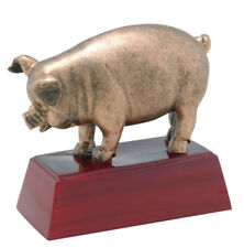 Barbecue Hog Pig Roast Cook Out Trophy Ribfest Award New Large Size! C-Rc-662