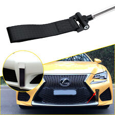 Black Front Bumper Track Racing Style Tow Hook Strap for Lexus IS CT GS LS RC RX
