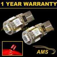 2X W5W T10 501 CANBUS ERROR FREE RED 5 LED SIDELIGHT SIDE LIGHT BULBS SL101303