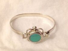 Vintage ATI Mexico Sterling Silver Turquoise Bracelet 18g