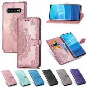 Flip 3D Embossed Patterned PU Leather Card Pocket Wallet Stand Case Lot Cover  1