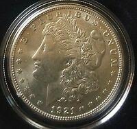 1921 P Uncirculated Morgan Silver Dollar