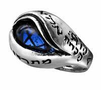Alchemy of England Gothic Angels Eye Magic Swarovski Crystal Sapphire Ring R124