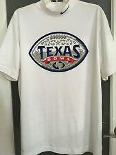 Mens L Nike Dri Fit. Texas Bowl shirt NCAA White Pullover Short Sleeve EUC