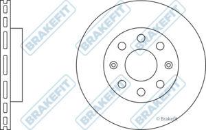 2x Brake Discs Pair Vented fits DAEWOO KALOS KLAS 1.2 Front 03 to 05 B12S3 236mm