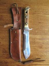 Puma White Hunter 6377 Genuine Pumaster Steel Germany Knife and Leather Sheath